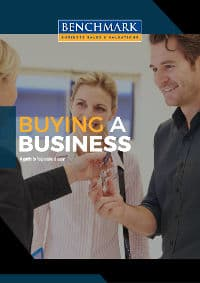 Benchmark Business Sales and Valuations Free E-Book Cover 12 Tips Buying a Business