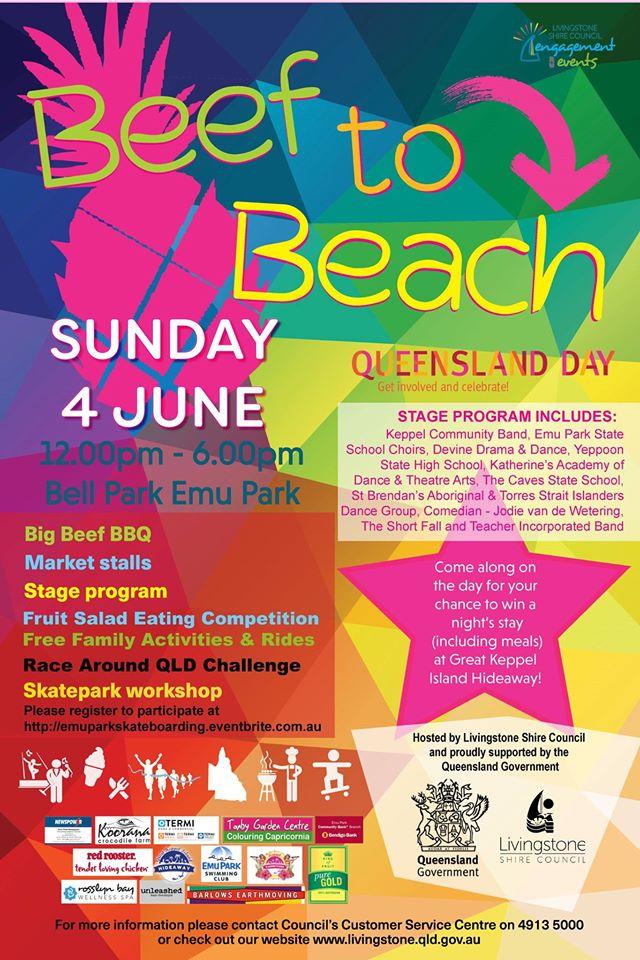 Beef to Beach Emu Park Capricorn Coast 4 June 2017
