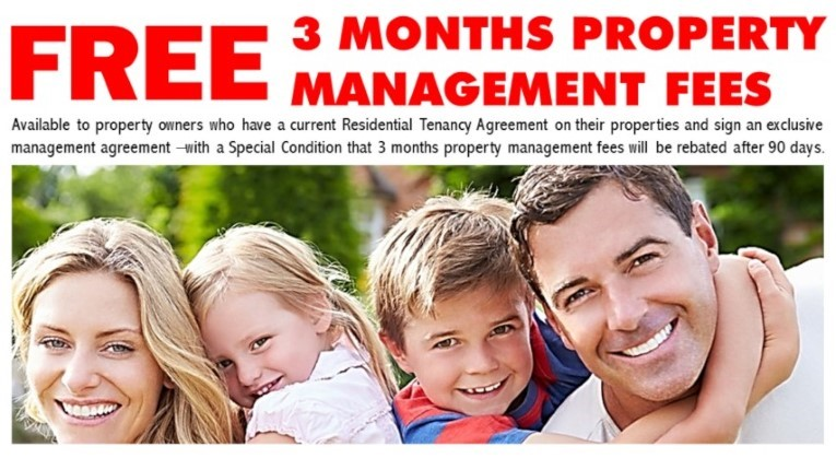 Free 3 Months Property Management Fees